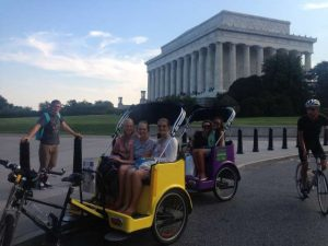 DC Pedicab tours -- Lincoln Memorial