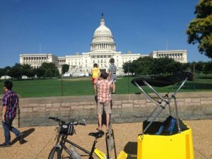 Best views of the US Capitol is by Nonpartisan Pedicab tour