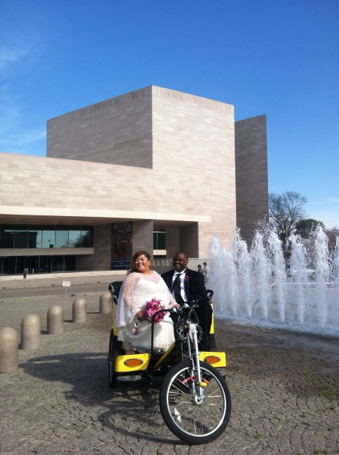 Nonpartisan Pedicab Wedding on the National Mall