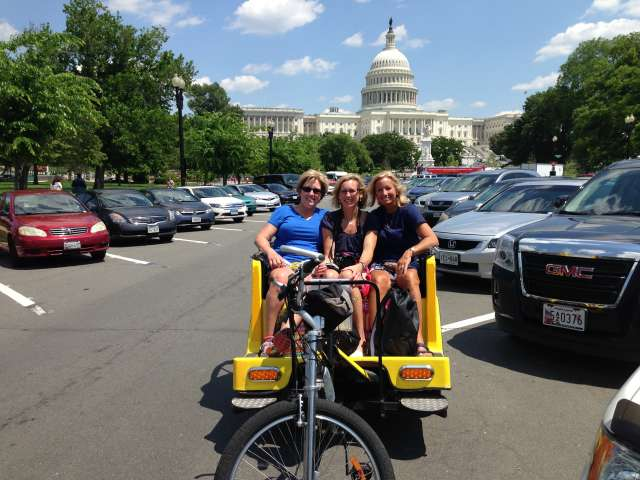 Taking a Pedicab Tour of the Capitol