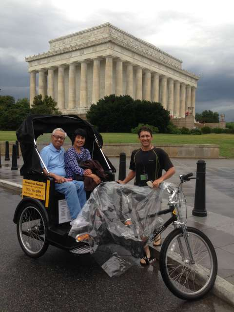 Pedicab Tour Lincoln Memorial