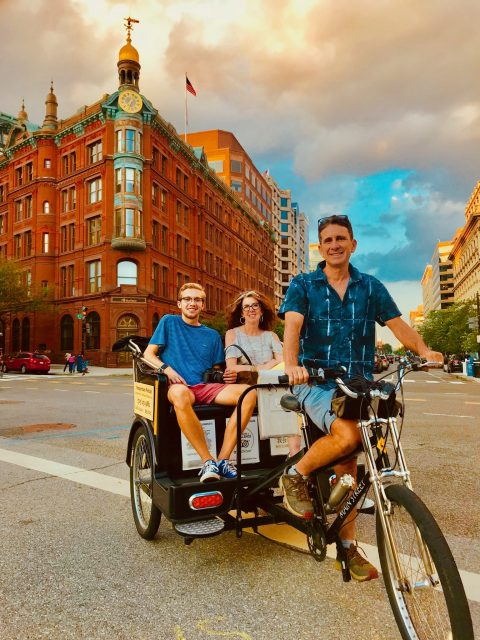 Nonpartisan Pedicab on tour