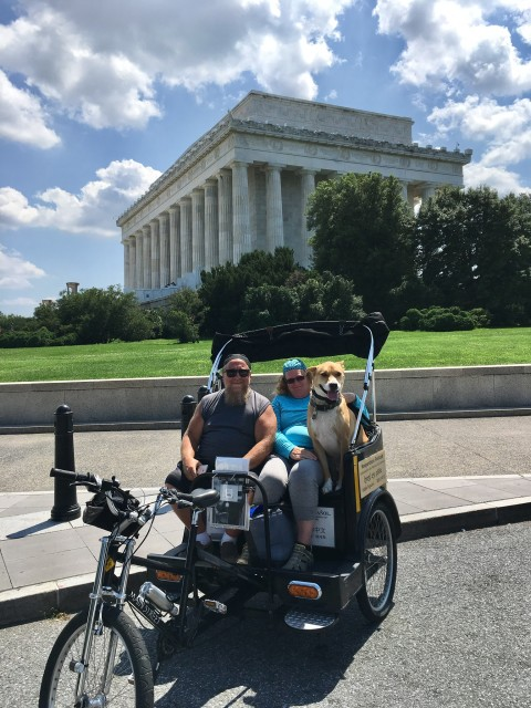 Dog Friendly Tour at Lincoln Memorial