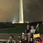 Twilight tour of the Monuments with Nonpartisan Pedicab