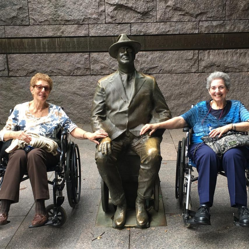 Nonpartisan Pedicab Tour at the Franklin Roosevelt Memorial