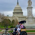 Riding in front of the US Capitol today
