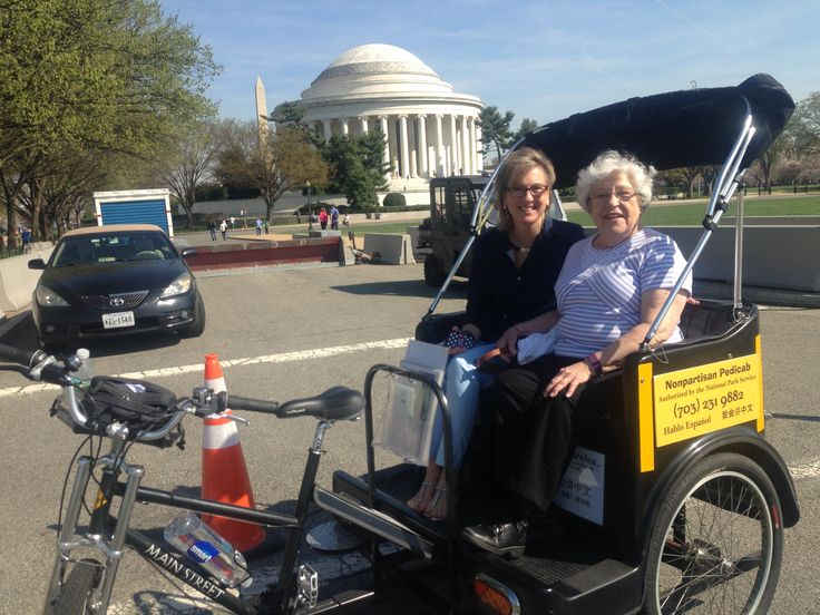 Elderly Tour at the Jefferson Memorial