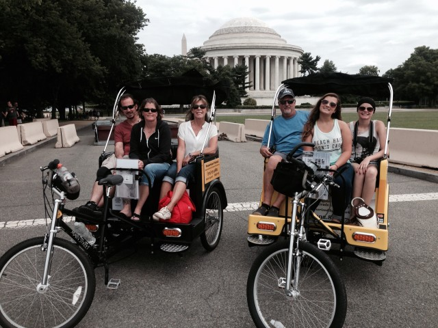 Nonpartisan Pedicab tour at Jefferson Memorial