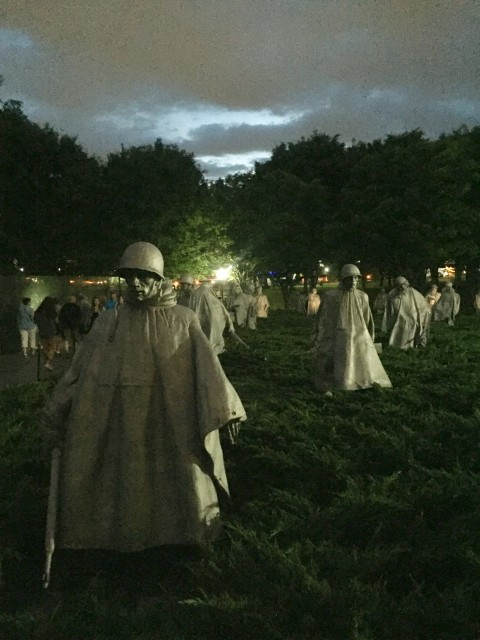 Korean Memorial at Twilight
