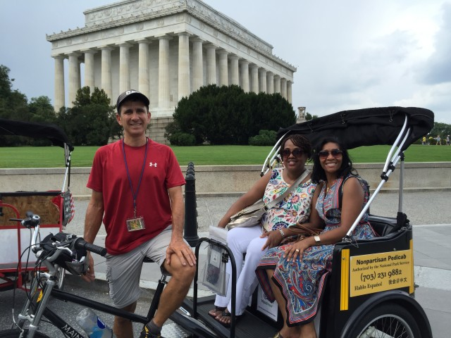 Nonpartisan Pedicab Tour at Lincoln Memorial