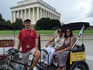 Nonpartisan Pedicab Tour at Lincoln Memorial