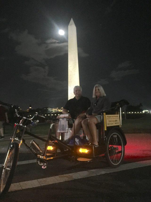 Twilight tour at the Washington Monument
